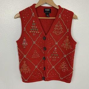 Studio Joy Christmas Vest Red Sz: M